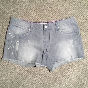 Charlotte Russe Distressed gray jean shorts 34x3